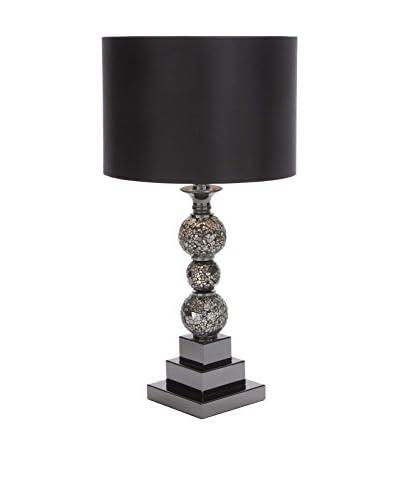 Metal & Glass Table Lamp, Black