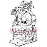 Deep Red Stamps Santa Claus Rubber Stamp - 1