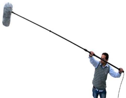 12 feet Carbon Fiber Boom Pole with 20 feet XLR Cable for Rode Sennheiser Audio Technica Azden Sony, AKG