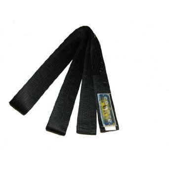 MARTIAL ARTS, Black Belt -MASTER-Silk/Satin -240cm (Plain) MARTIAL ARTS,KICKBOXING,KARATE,TAE KWON-DO Black Belt