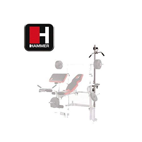 Hammer Bermuda XT Torre per Panca Multifunzione, Nero/Bianco/Grigio