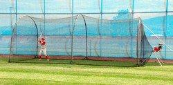 Heater Combo Baseball Softball Pitching Machine & Batting Cage