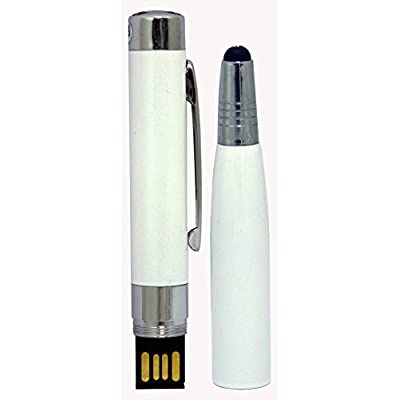 3-in-1 16GB Pen Drive, Stylus and Pen White Color Pen Shape USB 2.0 Pen Drive MT1035