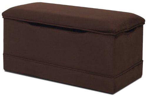 Newco Kids Deluxe Toy Box, Chocolate Micro