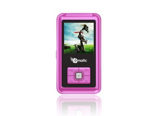 Ematic 2 GB Color MP3 Video Player with 1.5-Inch Screen, FM Radio and Voice Recording (Pink)