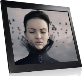 NIX N' EASY X15A 15 Inch Hi Resolution Digital Picture Frame, 1GB Internal Memory, Remote Control, Photo, Video, Music, Split Screen Option