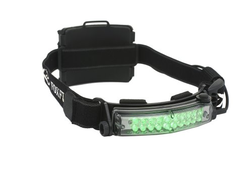 Foxfury 420-014 Command 20 Hunting Green Led Helmet Light With Elastic Strap, 50 Lumens