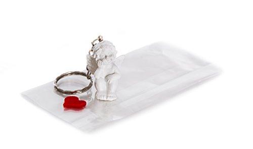 25piccoli angioletti singolarmente con cuore; Angelo Custode regalo come ospite, cliente regalo o Souvenir per matrimonio, comunione, battesimo, comunione o compleanno; decorazione da tavola bella ed esclusiva come portachiavi.