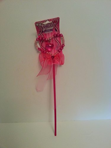 Princess Expressions Fuchsia Beaded Heart Wand
