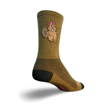 SockGuy Crew 6in Bucky Beaver Cycling/Running Socks