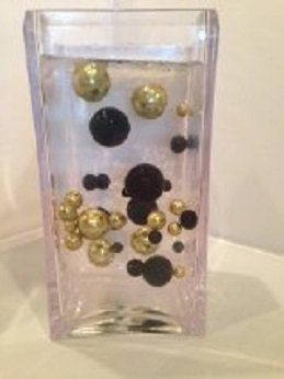 Unique Black & Antique Gold Pearl Beads Including Clear Jellybeadz®. Great For Wedding Centerpieces And Decorations