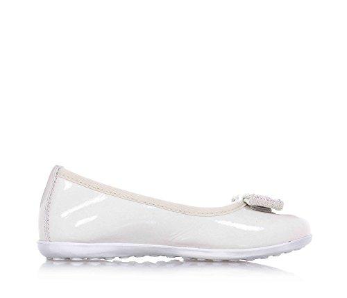 CIAO BIMBI - Ballerina bianca, in vernice, curata in ogni dettaglio, prodotta in italia, ragazza, Bambina-25