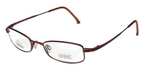 Adidas A948 Unisex/Boys/Girls/Kids Designer Full-rim Eyeglasses/Eye Glasses (47-18-130, Merlot / Orange) (Adidas Vintage Jacket compare prices)