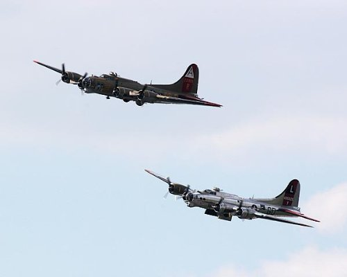B-17 Flying Fortress WWII Bombers in Flight 11x14 Silver Halide Photo Print