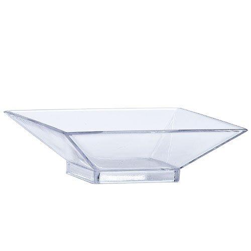 Lillian Mini Plastic Square Serving Dish, Clear, Pack of 12 dishes, Clear (Super Bowl Serving Dishes compare prices)