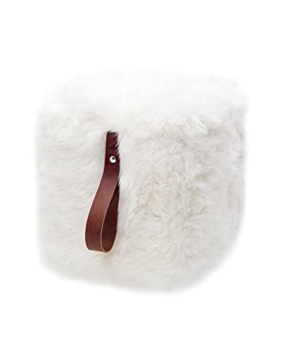Royal Dream Puff Sheepskin Blanco/Marrón