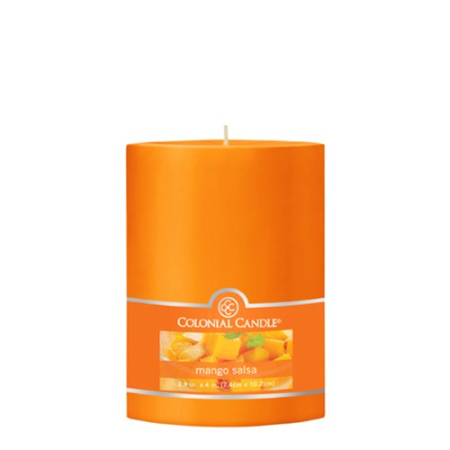 Colonial Candle Mango Salsa 3-Inch by 4-Inch Smooth Pillar (Colonial Candle Mango Salsa compare prices)