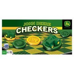 Masterpieces PuzzleCompany John Deere Classic Checkers Board Game front-313334