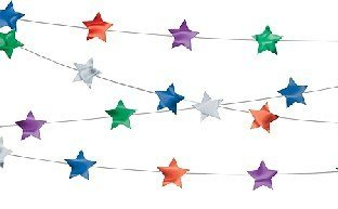 Amscan Bright color Stars String Decoration Value Pack, 100', Multicolor