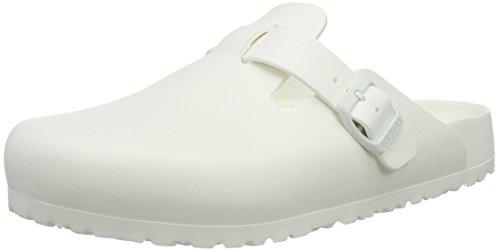 Birkenstock Boston Eva, Zoccoli Unisex - Adulto, Bianco (White), 42 EU