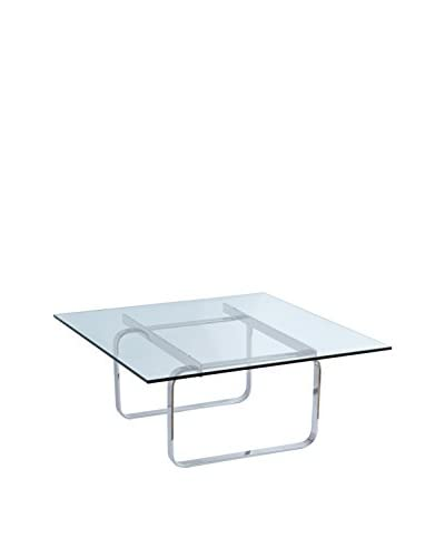 Manhattan Living Modern Glass Hans Coffee Table, Clear