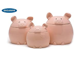 Del Rey 3-pc. This Lil' Piggy Canister Set