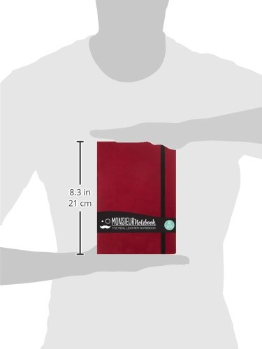 Monsieur Notebook Leather Journal - Red Sketch Medium (Monsieur Notebook Sketch Portrait, 36-LB)