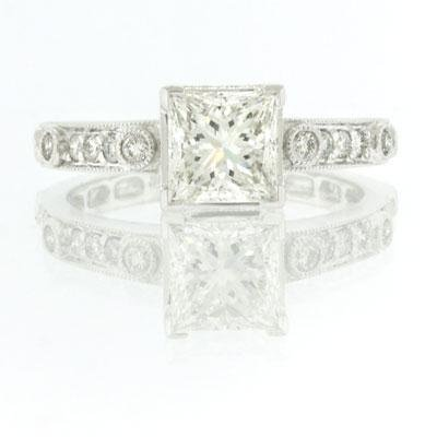 2.35ct Princess Cut Diamond Engagement Anniversary