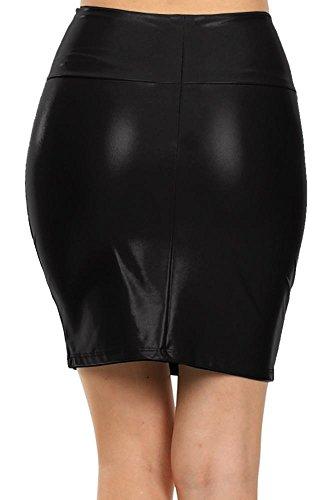 small medium large faux leather pleather mini skirt