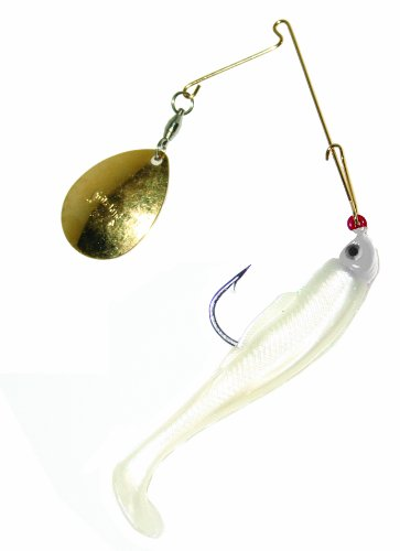 Strike King Lure Company Strike King Redfish Magic Saltwater Spinnerbait (Pearl/Pearl Head, 0.25-Ounce)