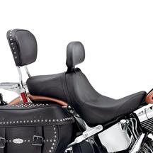 H-D Signature Seat w/ Rider Backrest - Smooth 51998-08