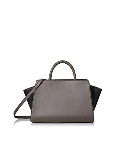 ZAC Zac Posen Women's Colorblock Eartha East/West Satchel, Shadow