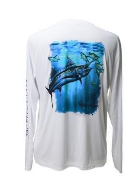 Tru blue angler high performance dri fit upf 30 fit for High performance fishing shirts