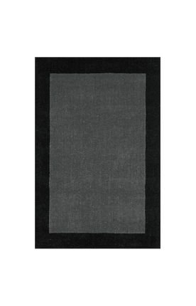 Pulse Border Rug, 4-Feet by 6-Feet, Grey