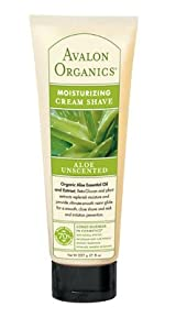 AVALON ORGANICS, Cream Shave Aloe Vera Unscented - 8 oz