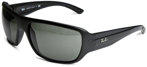 Rayban with Green Lense  &  Black Frame Polarised Unisex Adult Sunglasses T.64 Green/Black One Size