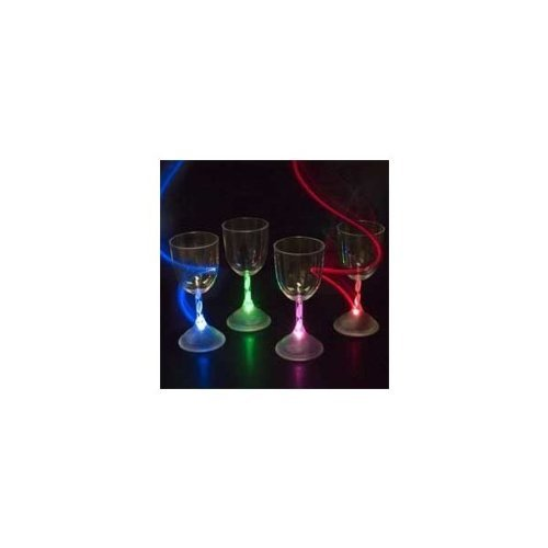 Lily'S Home® Led Light Up Flashing Wine Cocktail Glasses. Color Changing. Set Of 4.