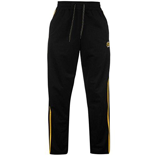 Everlast -  Pantaloni sportivi  - Uomo Nero / Giallo Large