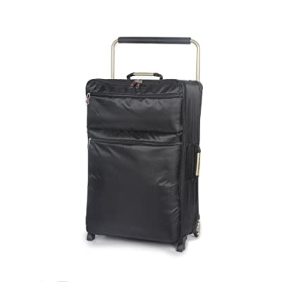 "IT Luggage Black 26"" Worlds Lightest Ultra Lightweight Suitcase 1.92 kg 10 Year Guarantee"
