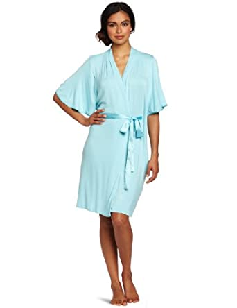 Midnight By Carole Hochman Women's Just One Night Robe, Blue Lagoon, Small