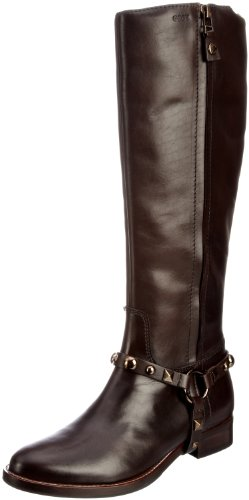 Geox Women's D Becky A Dk Brown Riding Boots D13T5A43C6006 4 UK, 37 EU
