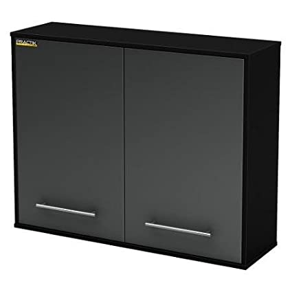 South Shore Karbon Wall Cabinet - Pure Black / Charcoal