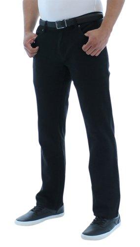 Company 81 Moda Essentials Men's Straight Leg Twill Denim Pants Black Size 32x32