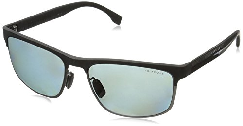 BOSS-by-Hugo-Boss-Mens-B0835s-Rectangular-Sunglasses-Black-Carbon-BlackGray-Polarized-58-mm