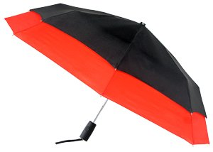 Red Black Leighton Falcon Automatic Windefyer Umbrella