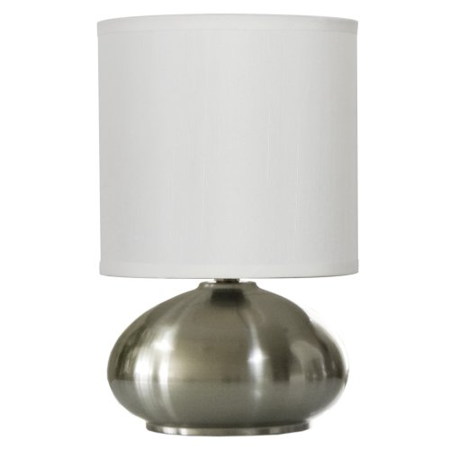 Light Accents Bedroom Side Table Lamp With 3 Stage Switch Dimmer Low Bright And Off Brushed