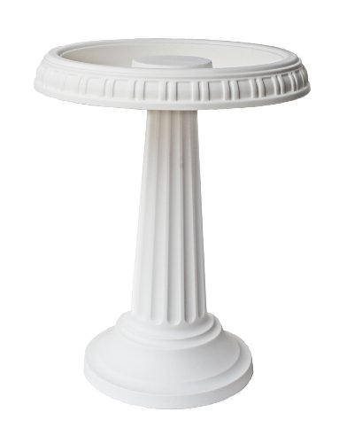 Bloem BB2-10 Grecian Bird Bath with Pedestal, White