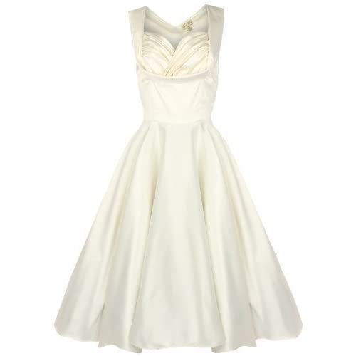 Lindy Bop 'Ophelia' Vintage 1950's Wedding Prom Swing Dress (XL, Ivory)