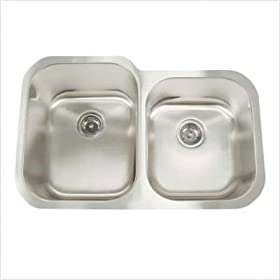 Artisan Sinks AR3221-D10/8 Premium Series Double Bowl Equal Width Undermount Sink 16 gauge