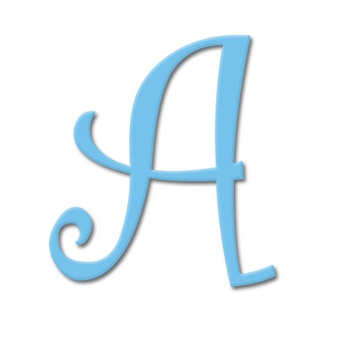 aBaby Curlz Letter, A, Blue Jay